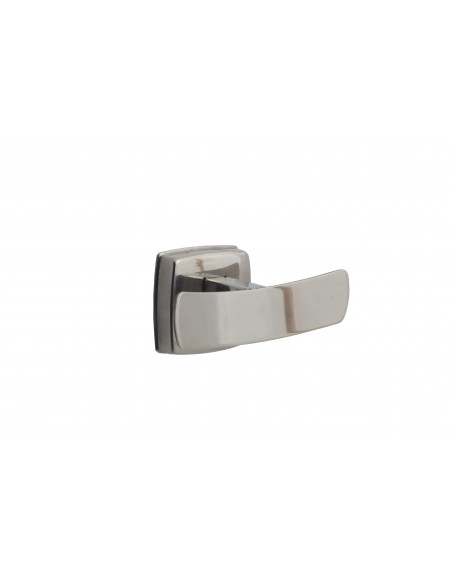 PERCHA DOBLE. ACERO INOX. ACABADO BRILLO