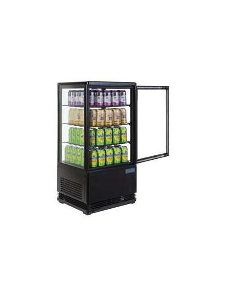 Expositores refrigerado Fusión Negro, 3 estantes, 68 litros.