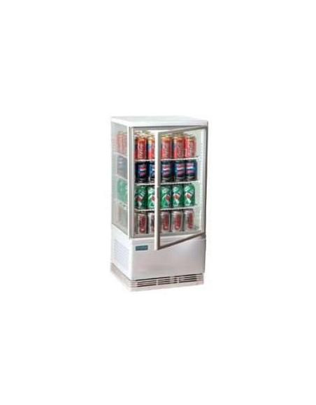 Expositores refrigerado Fusión Blanco, 3 estantes, 68 litros.