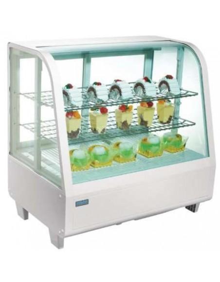 Vitrinas frigoríficas sobre mostrador Fusión 100 litros, Negra