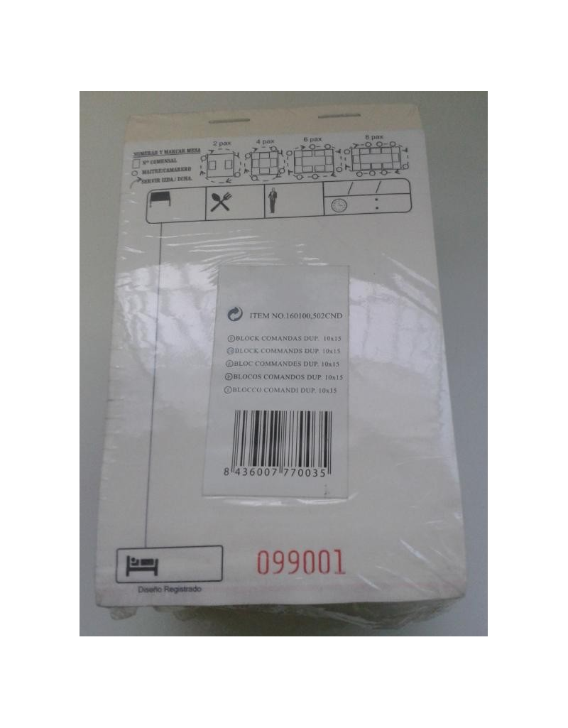 BLOCK-10 COMANDAS 50 Jgo/Duplicado 10x15 (20 paquetes)