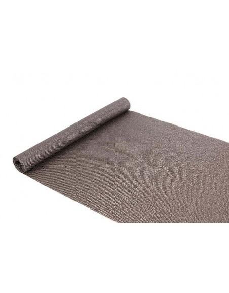 CAMINO MESA PVC INDIVIDUAL 45x150 cm. PLATA (12 Unid.)