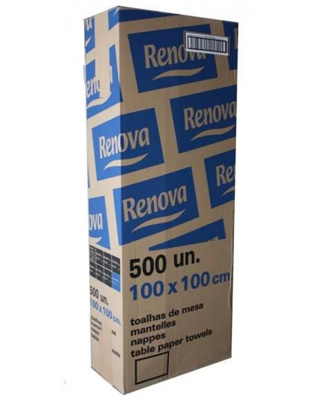 MANTEL RENOVA 100X100 BLANCO (500 Unid.)