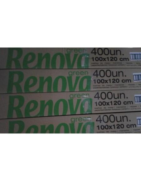 MANTEL RENOVA 1x1'20 cm. BLANCO C/400 uds.