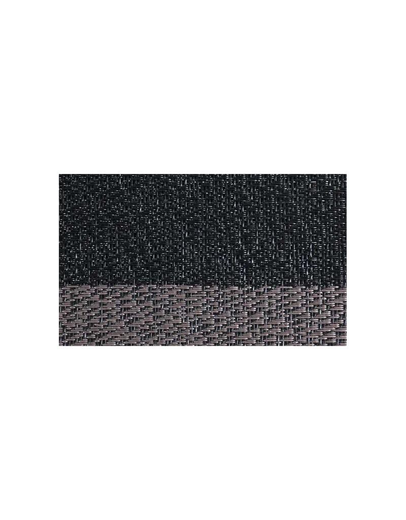 MANTELITO PVC INDIVIDUAL 45x33 cm. NEGRO-GRIS (6 Unid.)