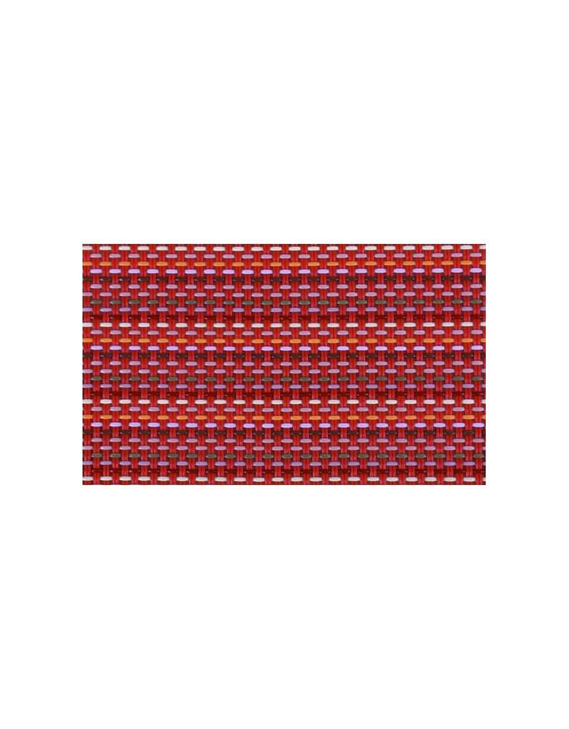 MANTELITO PVC INDIVIDUAL º38 cm. ROJO RAYAS  (6 Unid.)