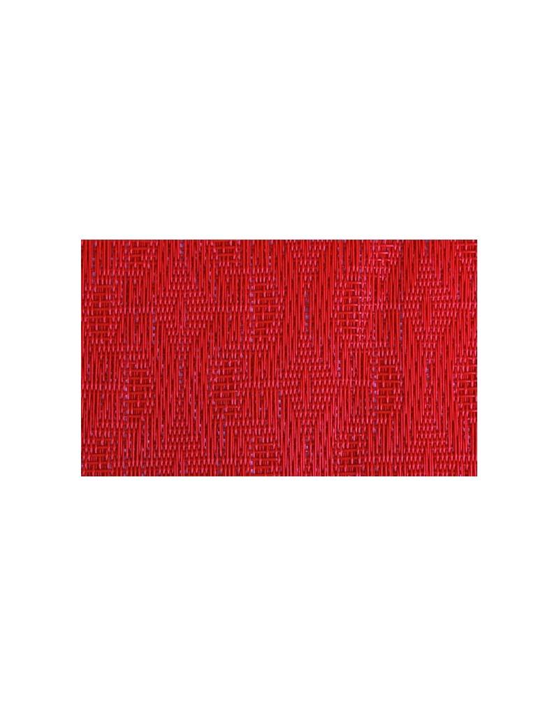 MANTELITO PVC INDIVIDUAL OVAL 49x36 cm. ROJO (6 Unid.)