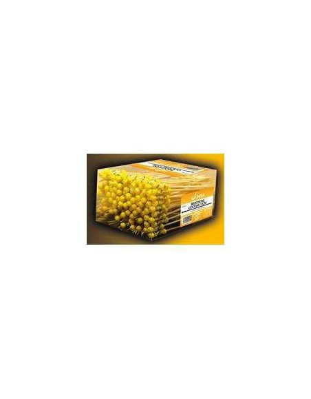 PINCHO BAMBU COCKTAIL 12 cm. C/TOPE AMARILLO C/PVC 200 uds. BETIK
