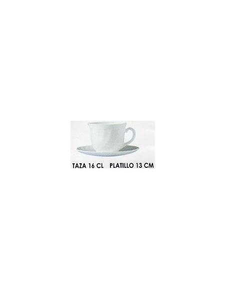 JUEGO TAZA C/PLATO 16 CL. TRIANON ARC
