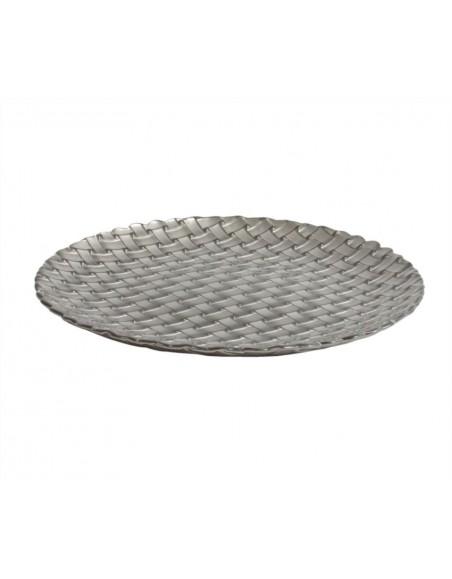 PLATO BRAID POSTRE 21'5 cm. C/PLATA CRISTAL