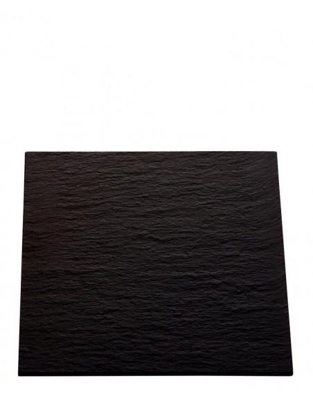 PLATO AFRICA 18x18 cm. PIZARRA