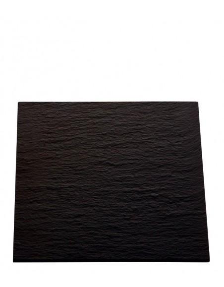 PLATO AFRICA 25x25 cm. PIZARRA